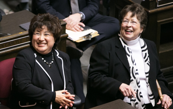 32nd District Rep. Cindy Ryu and Sen. Maralyn Chase.