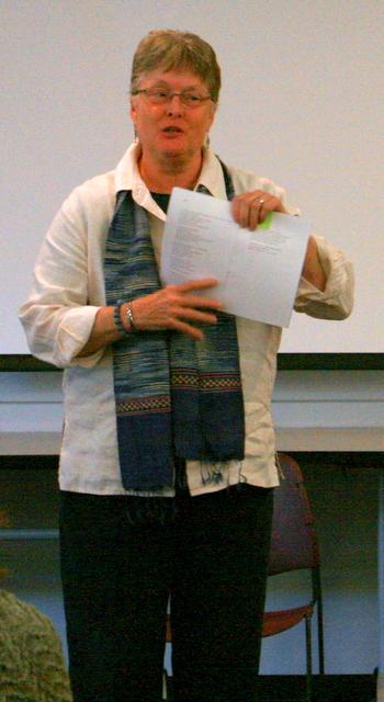 Ann Hursey of Mountlake Terrace read one of her poems.