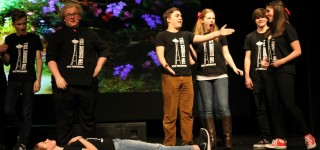 Scene at Mountlake Terrace High School Theater: Improv team plays for laughs