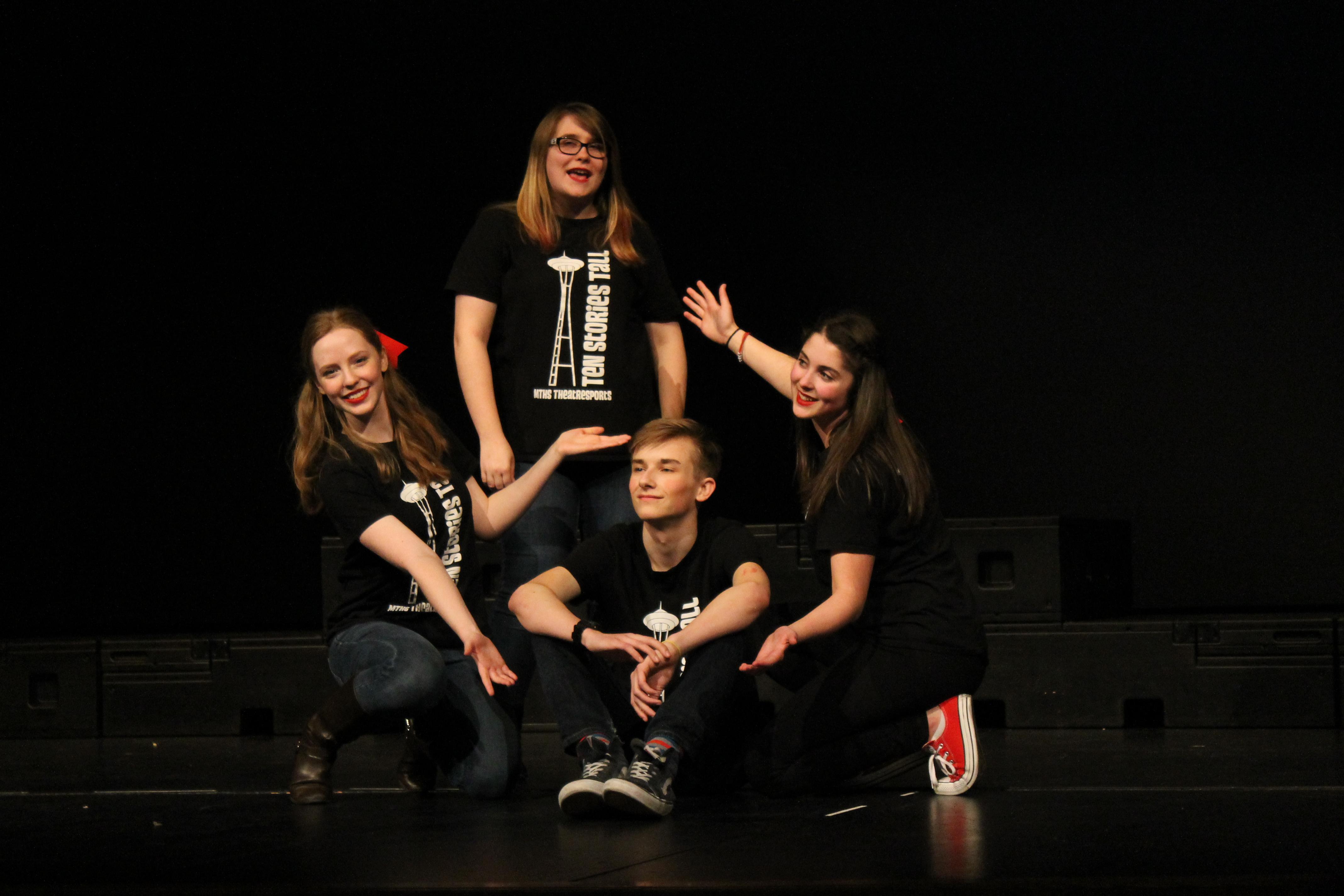 Scene at Mountlake Terrace High School Theater: Improv ...