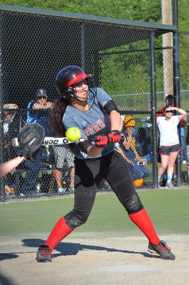 Mountlake Terrace's Kira Doan connects with the ball.