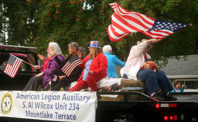 Members of the Mountlake Terrace American Legion Al Wilcox Post enjoy the parade.