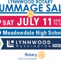 Welcome to new sponsor Lynnwood Rotary Rummage Sale