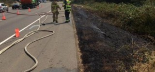 Lynnwood Fire Department puts out fire on I-5