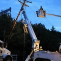 Working overtime to restore power