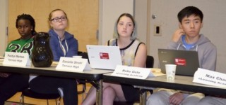 School board welcomes student advisors, honors nurses and talks about turf