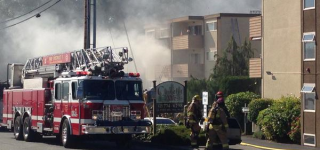 Happening nearby: Fire injures two, 16 units impacted at Camelot Apartments in Lynnwood