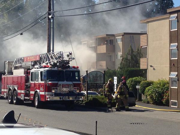 Happening nearby: Fire injures two, 16 units impacted at ...