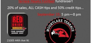 Support Mountlake Terrace's Sports Booster Club at Tuesday's fundraiser at Red Onion Burgers