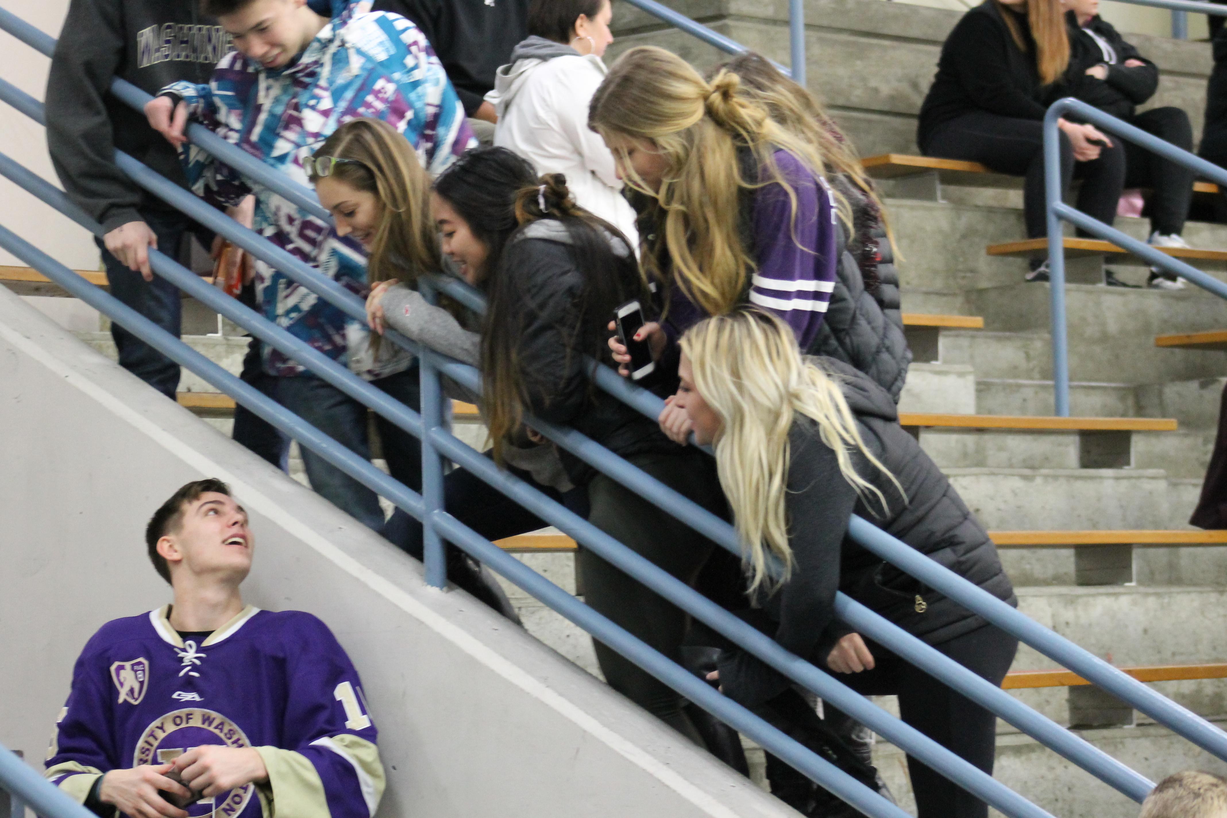UW Hockey at OlympicView Arena, Jan. 9 067