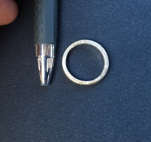 Do you recognize this ring? It was found Monday near the intersection of 168th Street Southwest and Highway 99. If you think it might be yours, call the Lynnwood Police Department at 425-744-6900. There is an inscription on the inside of the ring that will be used to confirm the identity of the owner. (Photo courtesy Lynnwood Police)