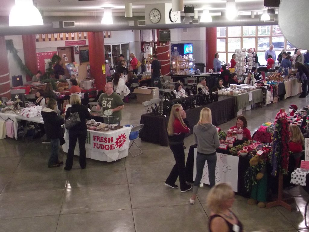 A scene from the MTHS Holiday Bazaar in 2012.