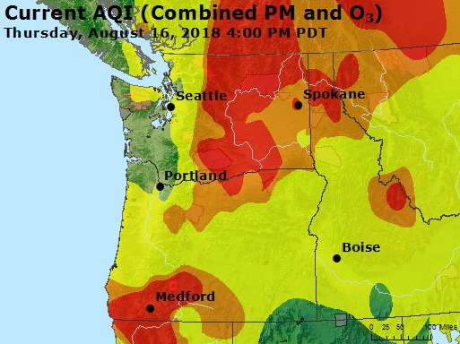 Air quality improves to 'Moderate,' another smoke event