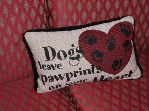 Dining Dog pillow