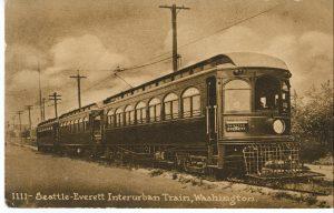 Seattle-Everett Interurban Train (Courtesy of the Edmonds Historical Museum)