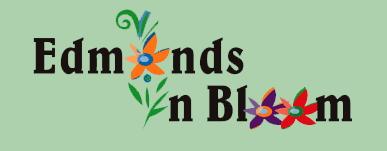 edmonds in bloom logo