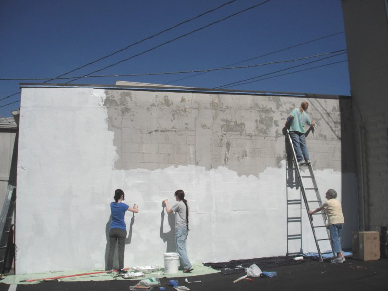 Edmonds mural society readies wall for first mural of 2011 for Edmonds mural society