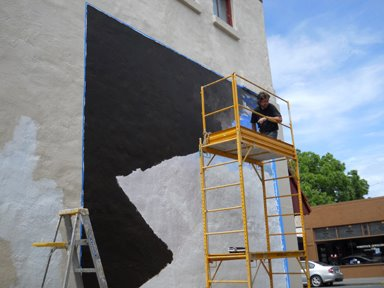 Stay tuned muralist transforming edmonds wall into wow in for Edmonds mural society