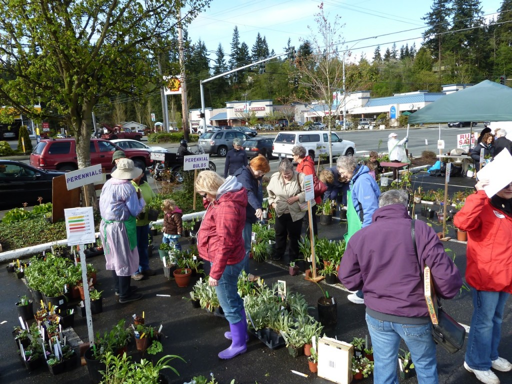 Last year's plant sale drew a crowd.