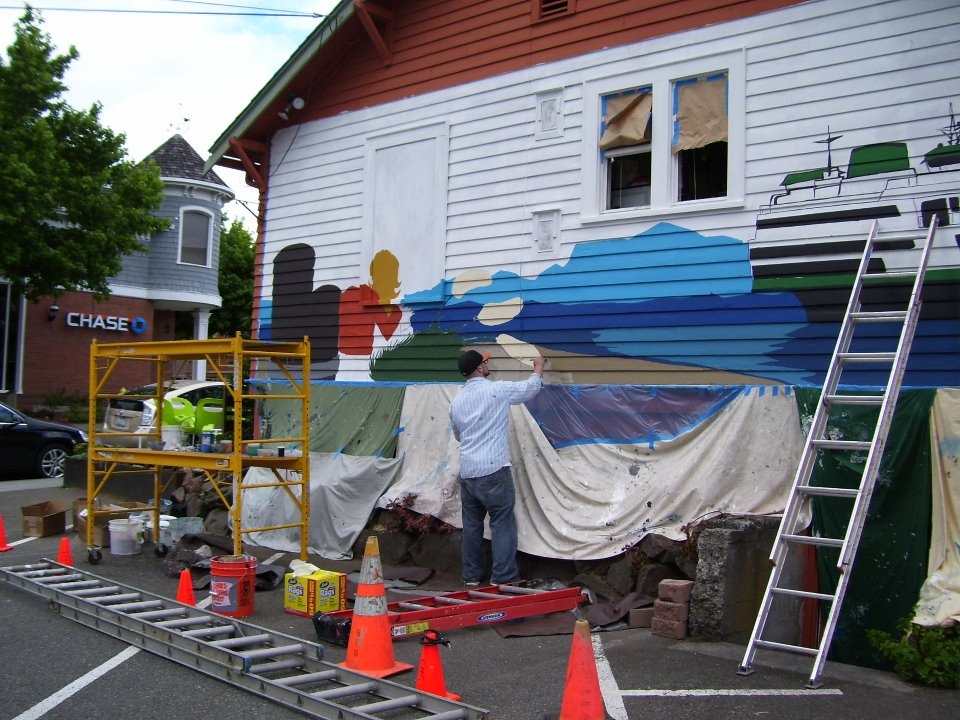 Mural society work wednesday my edmonds news for Edmonds mural society