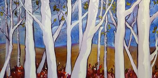 """""""White Wood,"""" by Andrea Gabriel at Christopher Framing."""