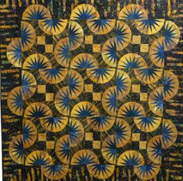 """""""Blue Shift,"""" by Carol Graves of Quilters Anonymous."""