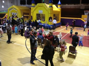 "Kids and their parents enjoy hula hoops, bouncy houses and more at the Edmonds Center for the Arts on Saturday, part of the day-long free ""Kidstock"" event. We'll post more photos by Chad Emerson Saturday night."