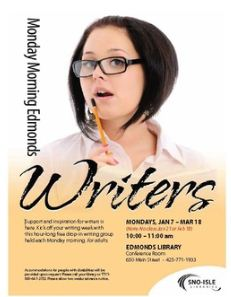 EPIC writing group meets Mondays at Edmonds Library.