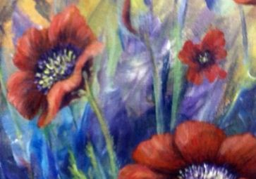 Paint 'Poppies' at Embellished on Saturday.