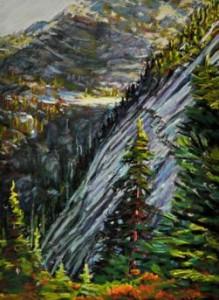 """Mount Pilchuck"" by Jannelle Leowen at Cole Gallery."