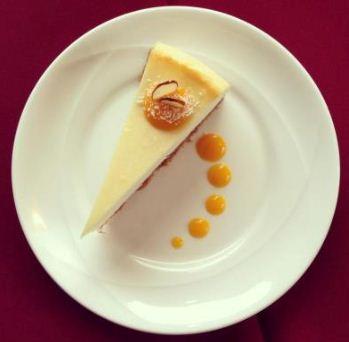 Royal India's mango coconut cheesecake.