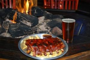 Beer and ribs at Rory's.