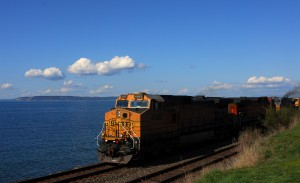 From Ken Sjodin, a train makes its way along the Edmonds waterfront Saturday.
