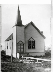 Edmonds Methodist Episcopal Church, circa 1909.