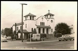 Hughes Memorial Methodist Church, 1953. Built in 1924, it was demolished in 1961.
