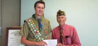 VFW Post and Ladies Auxiliary install new officers, present award to Eagle Scout candidate