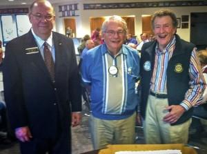 From left, Paul Harris Fellows John Rasmussen, Don Austin and Stan Dickinson.