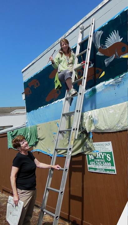 Scene in edmonds mural progress my edmonds news for Edmonds mural society