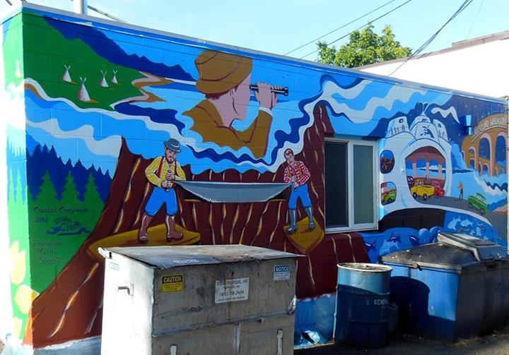Second 2013 mural now completed across from edmonds museum for Edmonds mural society