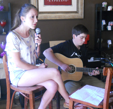 Alyson Podesta's sweet voice is accompanied by Ray Cameron on guitar.