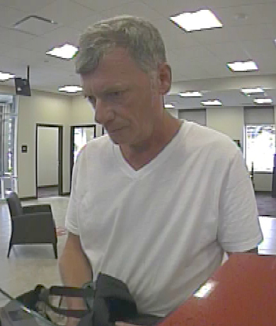 The suspect in Thursday's Key Bank robbery.