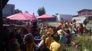 Family-friendly entertainment at Hazel Miller Plaza.
