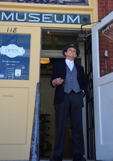 John Harquist in character as George Brackett.