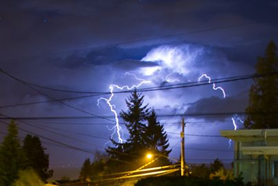 From Nathan Proudfoot, Sunday night's lightning on display in Edmonds.