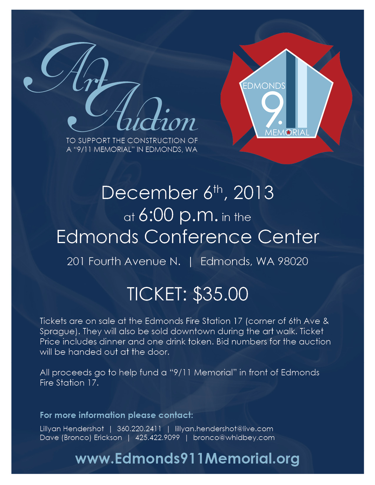 art auction flyer my edmonds news