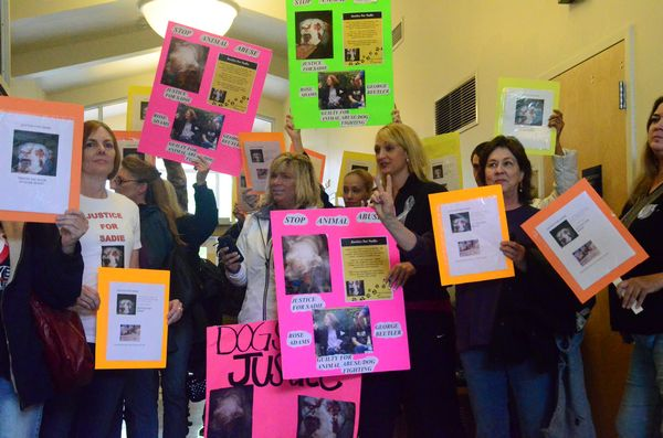 Adams' and Beutlers' first court appearance on May 22 drew a crowd of protestors to Edmonds Municipal Court to draw attention to the case and advocate for the animals.