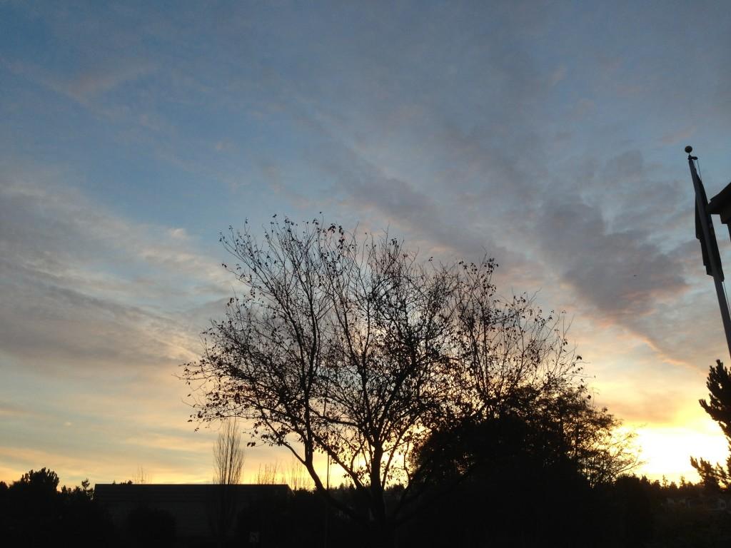 Jennifer Benson's take on Monday morning's sunrise.