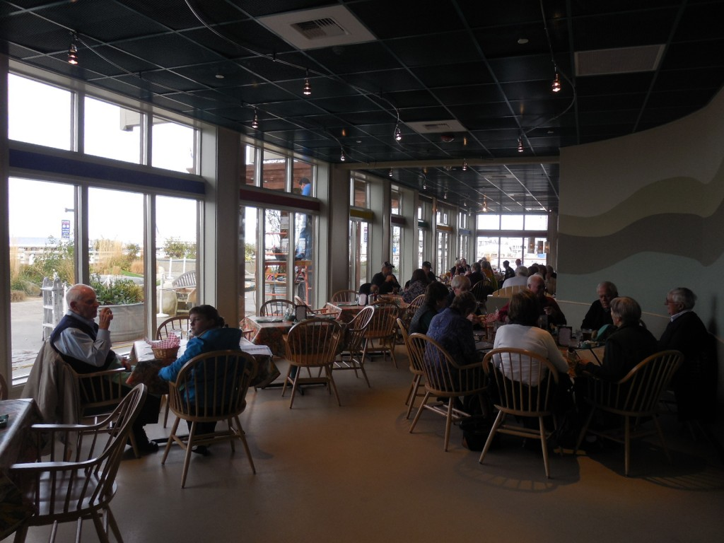 A more spacious Anthony's Beach Cafe.