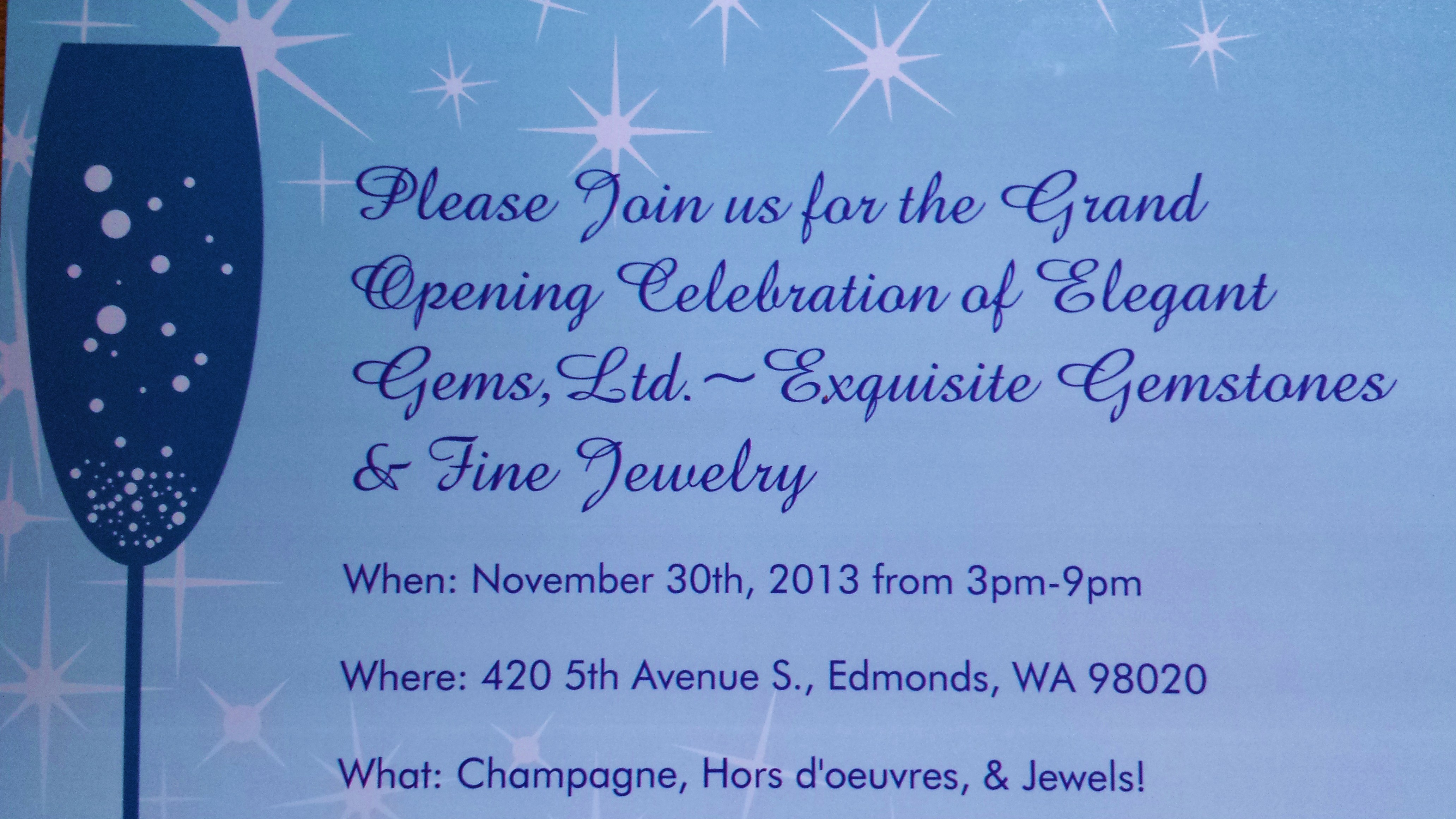 Elegant gems invitation my edmonds news elegant gems invitation stopboris Choice Image