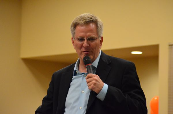 """Keynote speaker Rick Steves reminisced about growing up in Edmonds, how the town has changed over the years, and what a special place it is. """"We have a rich heritage in Edmonds,"""" he said, """"and we're fortunate to have the Museum to preserve and celebrate it."""""""